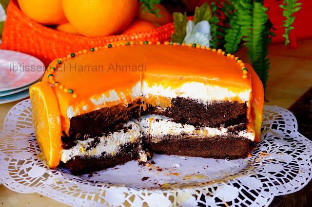 gâteau facile à l'orange chocolat