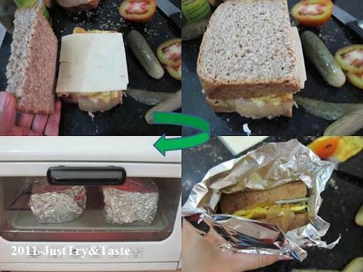 Sandwich Telur Dadar