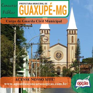 Edital concurso da Prefeitura de Guaxupé MG 2018