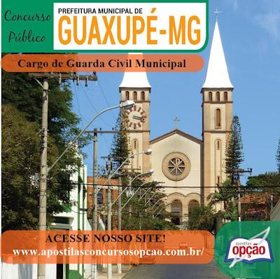 Edital e Inscrições concurso Prefeitura de Guaxupé 2018