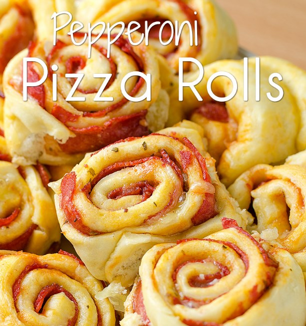 Pepperoni Pizza Rolls #pizza #party