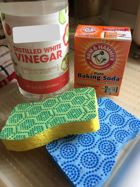I do not like to use harsh chemicals for cleaning, so I found an easy way to clean my porcelain kitchen sink using baking soda and vinegar.
