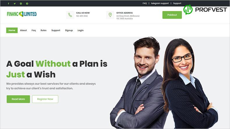 Financ Limited обзор и отзывы HYIP-проекта