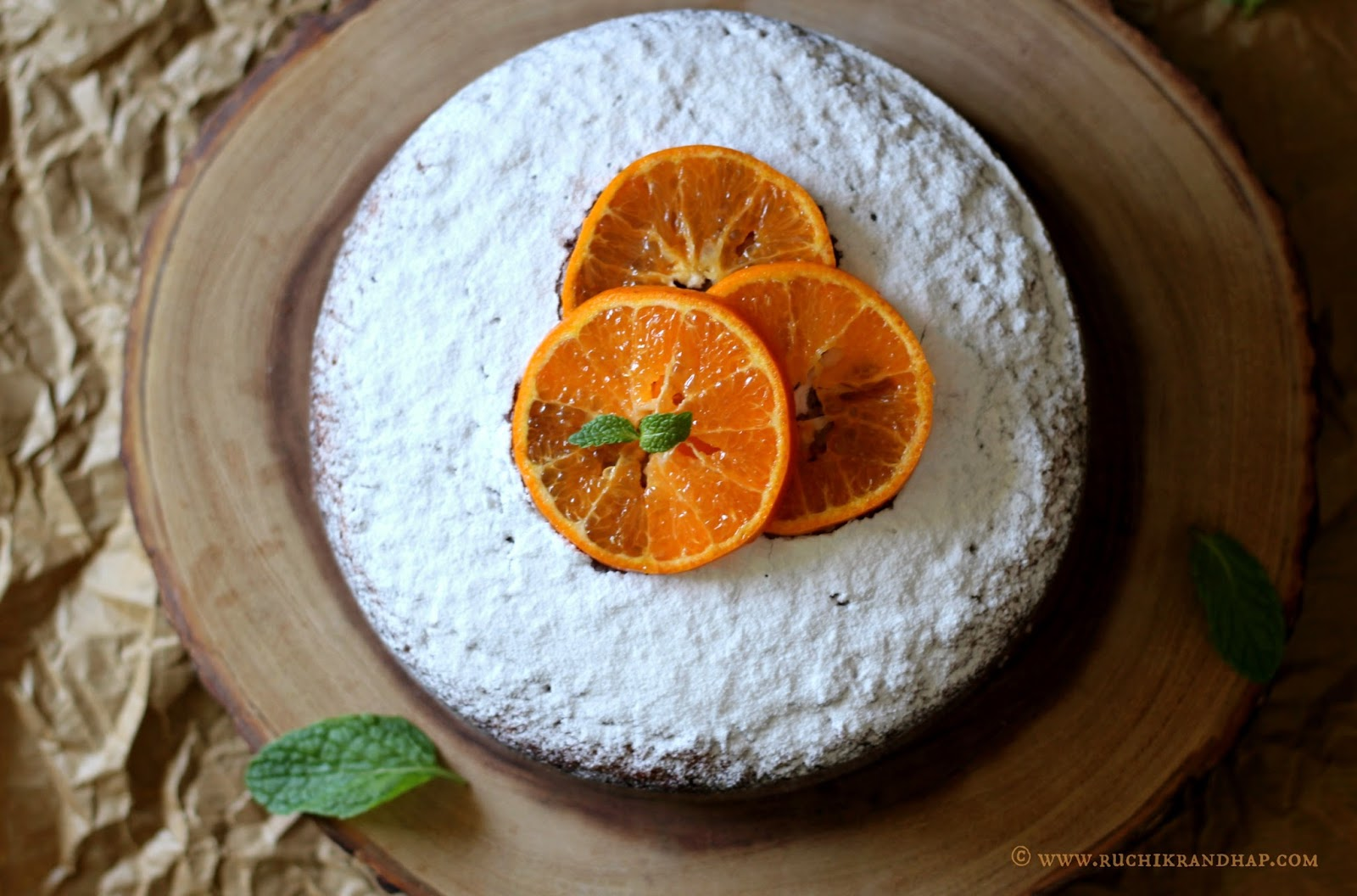 Orange Cake Using Whole Oranges