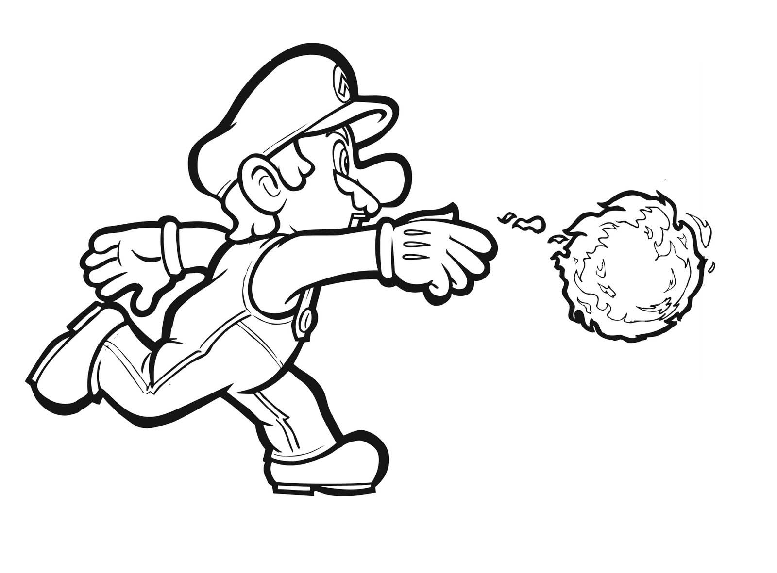 Super Mario Coloring Pages Photograph