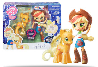 MLP Elements of Friendship Applejack Brushable and Equestria Girls Mini