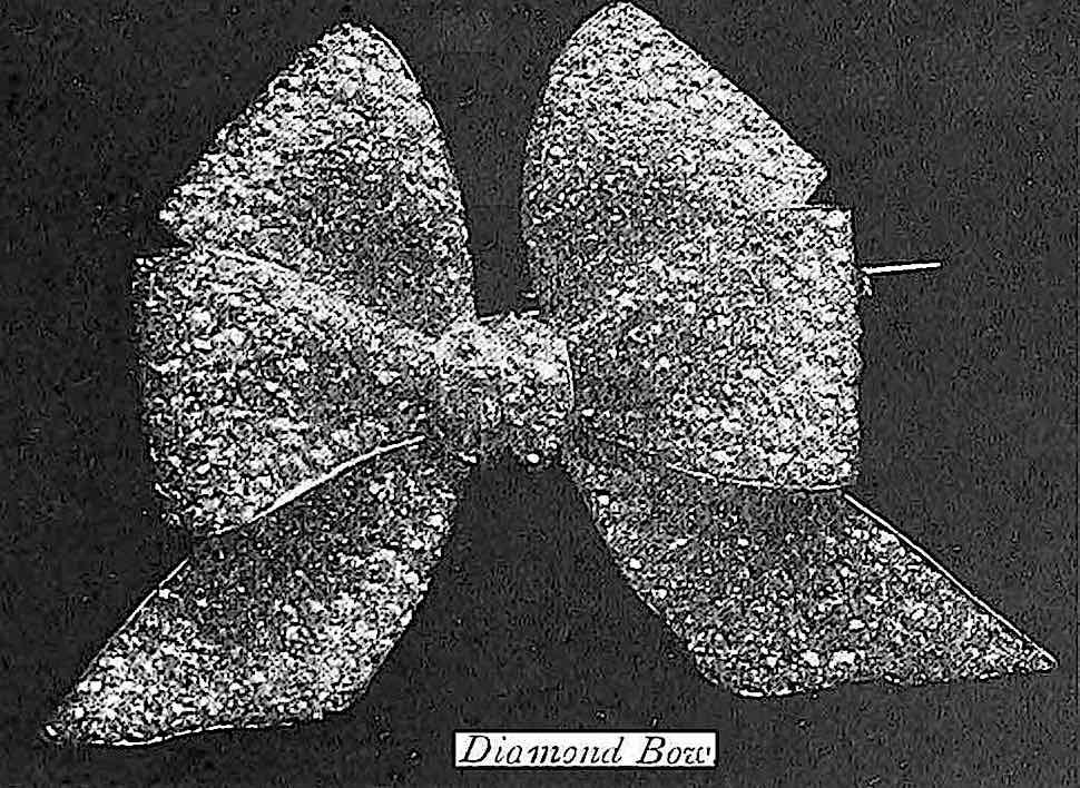 a diamond bow at the 1900 Paris World's Fair, photograph