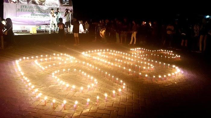 Sosialisasi Hemat Energi, Banten Nyalakan Seribu Lilin