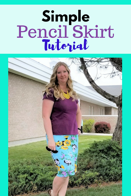 Simple and quick women's pencil skirt pattern and tutorial