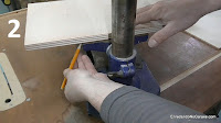 Marcar el ancho de la mesa metálica del taladro de columna. http://www.enredandonogaraxe.com