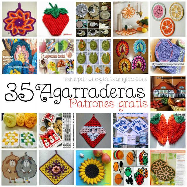 35 patrones de agarraderas para tejer al crochet