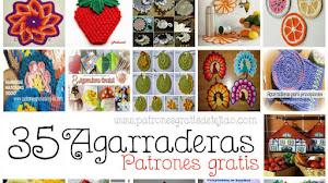 35 Agarraderas para tejer al crochet / Colección