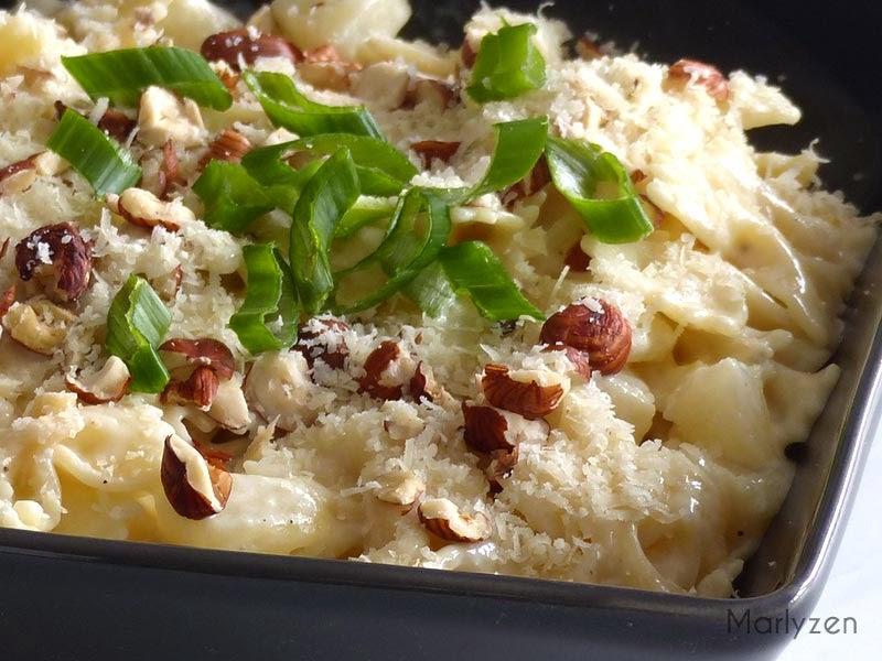 Gorgonzola, poire, noisettes, parmesan....