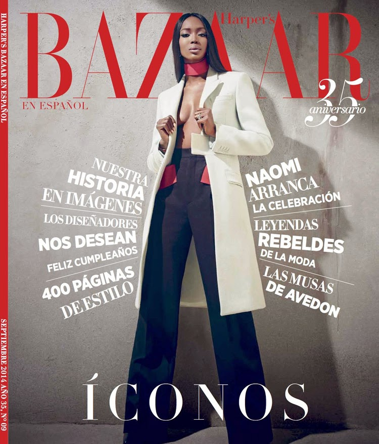 Naomi Campbell - Harper's Bazaar Magazine, Mexico, September 2014