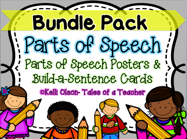 Why You Should Be Teaching The Parts Of Speech Flash Freebie