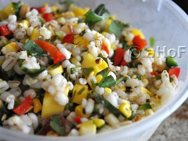 Barley Salad with Corn & Mango