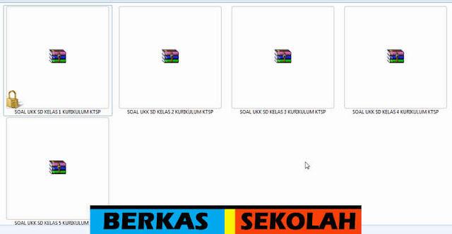 Soal UKK SD Kelas 1, 2, 3, 4, 5 Kurikulum KTSP dalam File Rar Tanpa Password