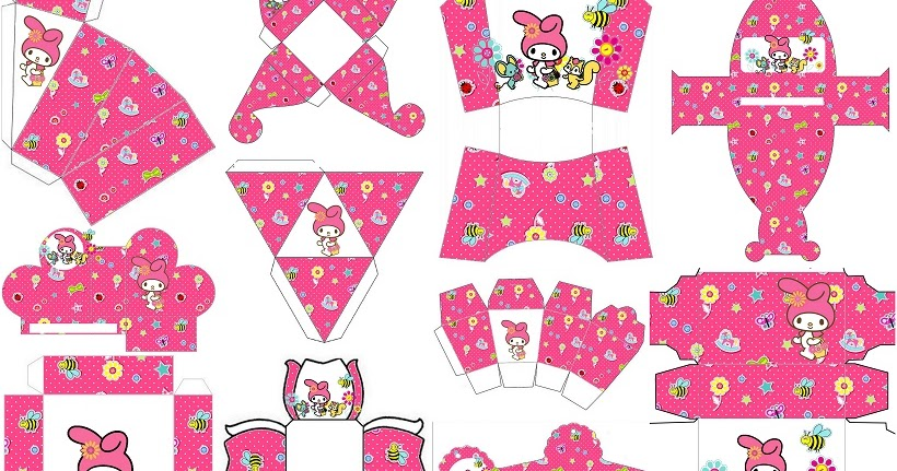 My Melody Birthday Party Free Printable Boxes Oh My