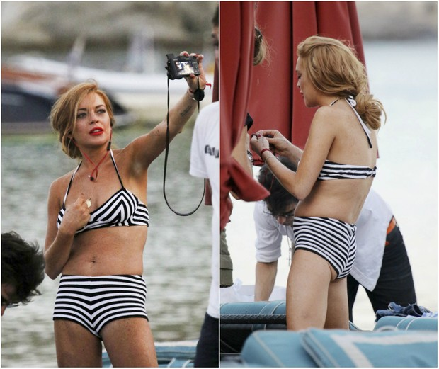 Lindsay Lohan calls attention for ' negative ' butt in Beach day