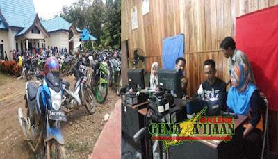 Disdukcapil Kotabaru Lakukan Perekaman E-KTP ke Pelosok Desa