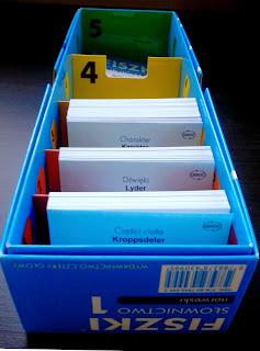 Fiszki słownictwo język norweski Cztery Głowy zestaw A1 pudełko