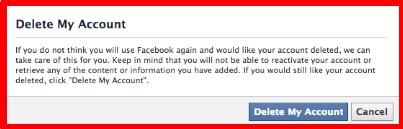 delete facebook account permanently