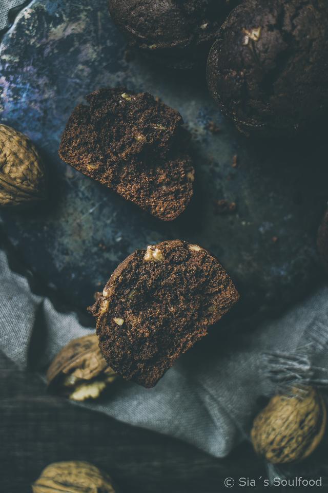 Schokoladen-Walnuss-Muffins