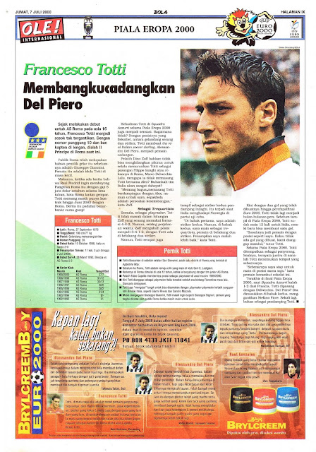 FRANCESCO TOTTI OF ITALY ON EURO 2000