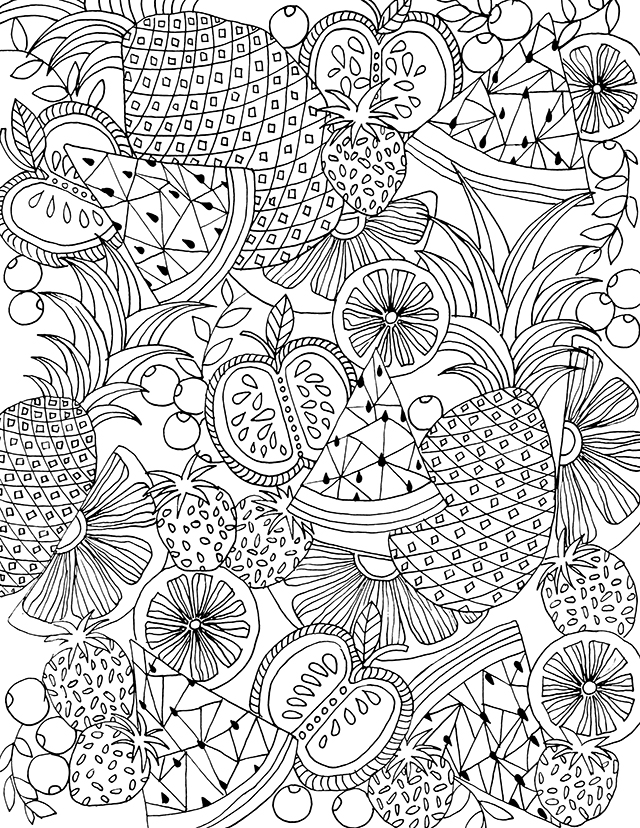 fruit coloring page # 24