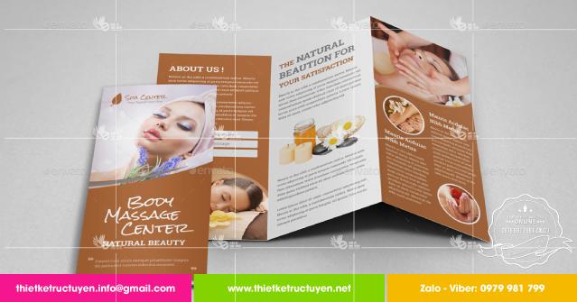 thiết kế brochure spa đẹp tại sài gòn