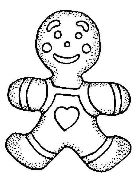 Free Gingerbread Coloring Pages To Kids | Cartoon Coloring ...