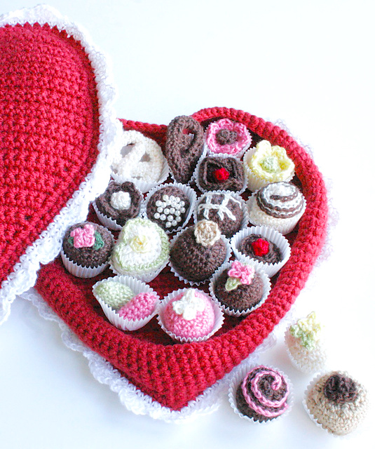 http://www.redheart.com/free-patterns/crochet-box-chocolates