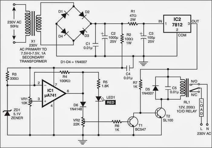 Overvoltage Protector Circuit Diagram Electronic Circuits Diagram