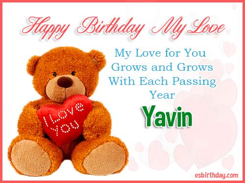 Yavin Happy Birthday My Love