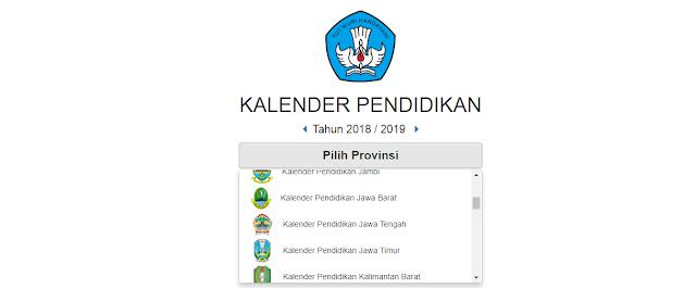 kalender pendidikan setiap provinsi diindonesia