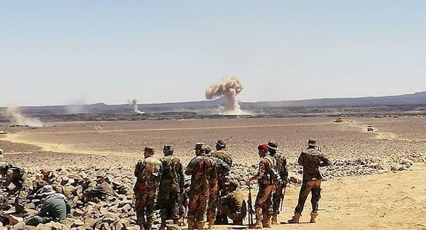 """التنظيم قيد الانهيار..الجيش السوري يقتحم جيب """"داعش"""" الأخير في بادية السويداء (صور)"""