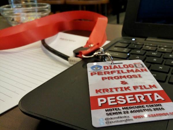 """Workshop """"Promosi & Kritik Film"""" bersama Demi Film Indoensia  (DFI) Dan Pusbang Film Kemendikbud RI"""