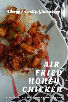 Image for pinning - Air Fried Allergy Friendly Gluten Free Honey Chicken