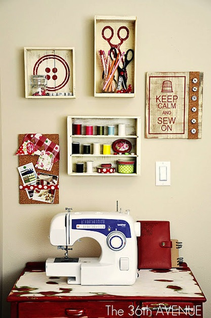 Sewing Room Designs: Nancy's Arts & Crafts: Sewing Rooms From Pinterest