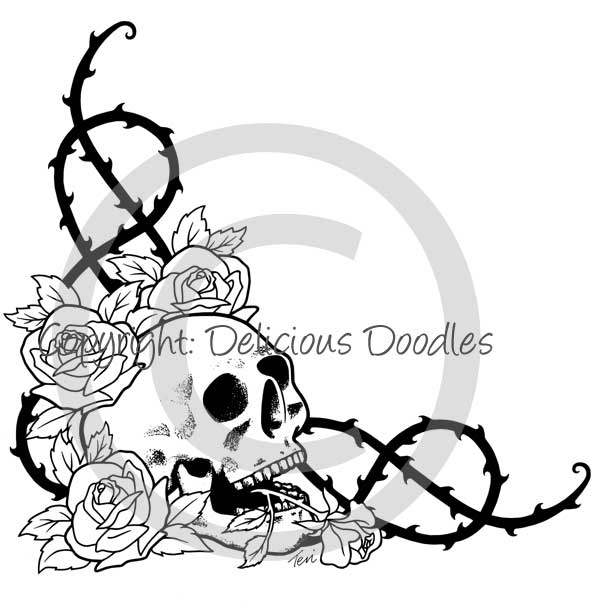 Easy Drawings Of Skulls And Roses 55959 Loadtve