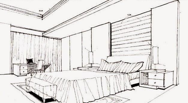 25 Baru Sketsa Interior Kamar Tidur Nkmhealth