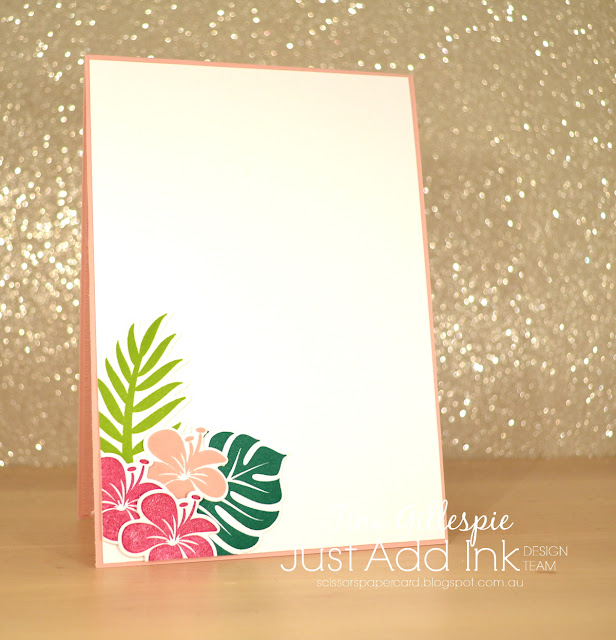 scissorspapercard, Stampin' Up!, Just Add Ink, Tropical Chic Bundle, Varied Vases, Tropical Escape DSP, Subtle 3DDTIEF