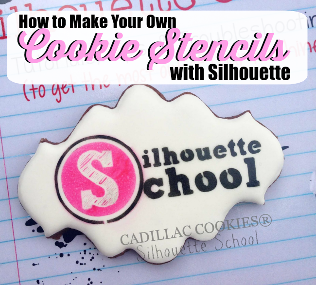 Silhouette Cameo, cookie stencils