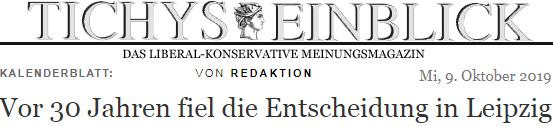 Vor 30 Jahren fiel die Entscheidung in Leipzig