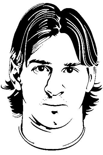 Desenhos Do Messi Para Colorir