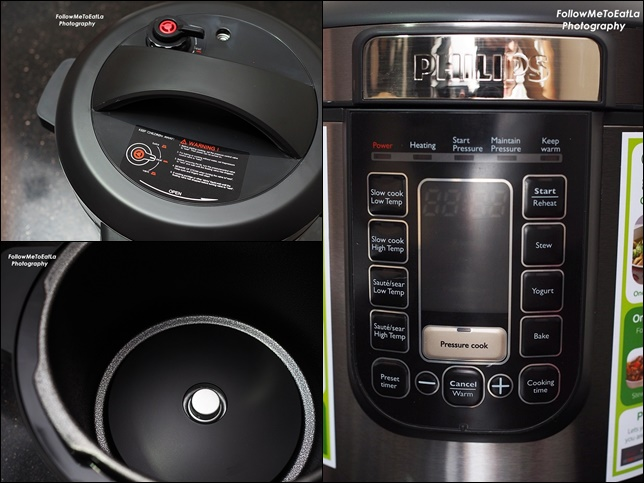 PHILIPS All-In-One Pressure Cooker features a 6L cooking capacity.