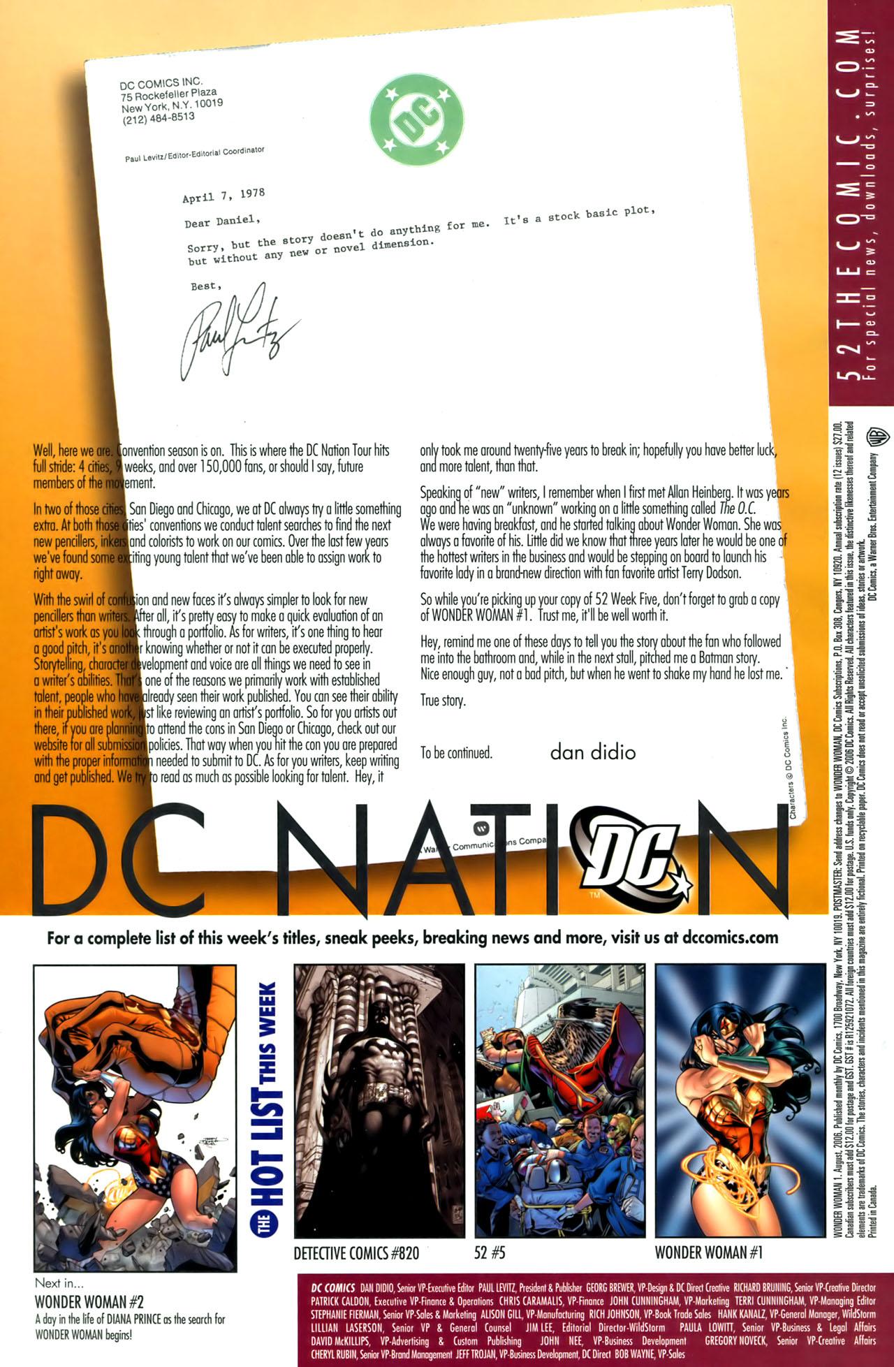 Read online Wonder Woman (2006) comic -  Issue #1 - 24