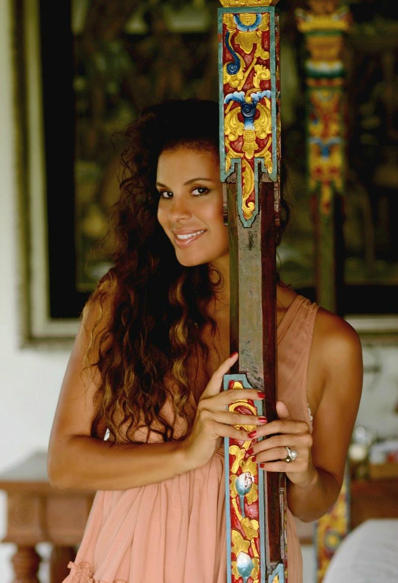 Tamara Chloé, Aqua Octaviana Bali Villa, Bamboo Blond Dress, Bali, Indonesia