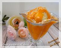 verrine, coupe glacée à l'abricot - Coupe gourmande à l'abricot