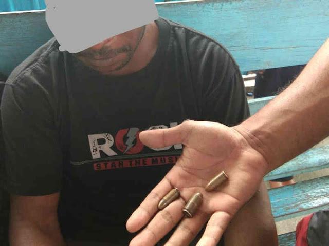 Polisi Tangkap Pemuda Argapura Pembawa 3 Butir Amunisi